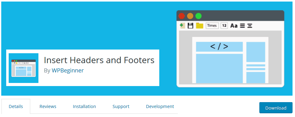header and footer plugin for wordpress